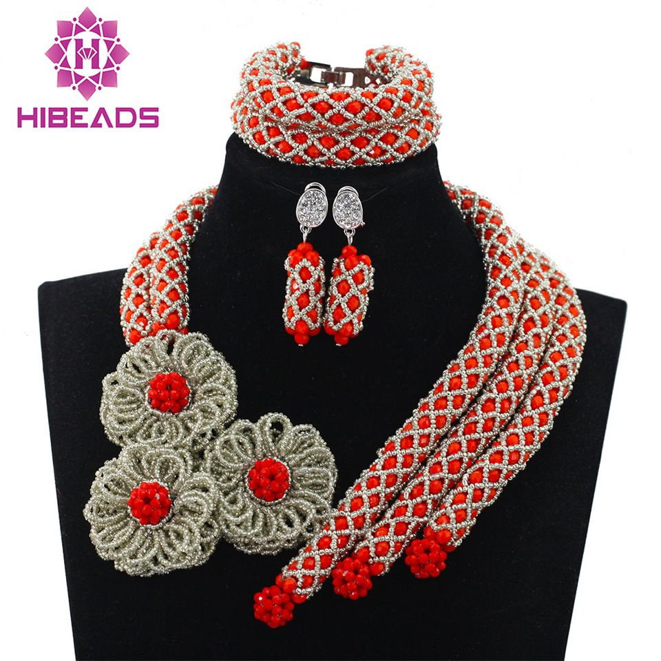 2016 Latest design African Beads Jewelry Set Nigerian Wedding ...