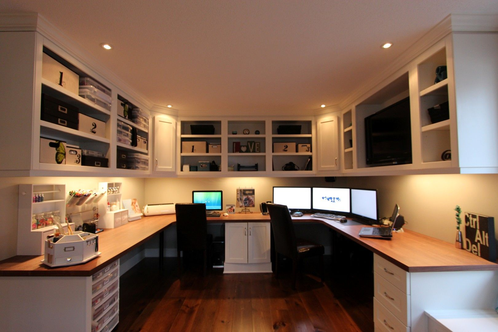 Home offices | Recessed lighting trim, Laminate flooring and Office designs
