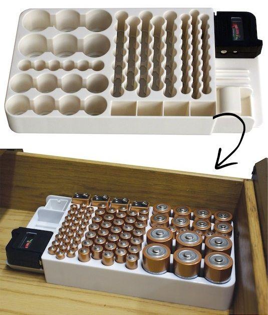 Ship from USA Battery Storage Organizer Rack 82 Holder Tester Case Box Organi...