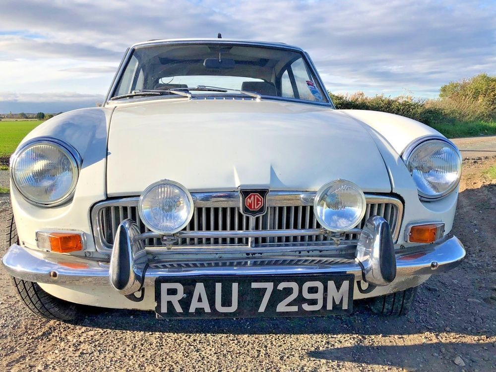 eBay: Lovely classic MGB GT chrome bumper in white with Britax