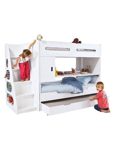 tiroir lit roulettes pour combin volutif combibed blanc kids s and room. Black Bedroom Furniture Sets. Home Design Ideas
