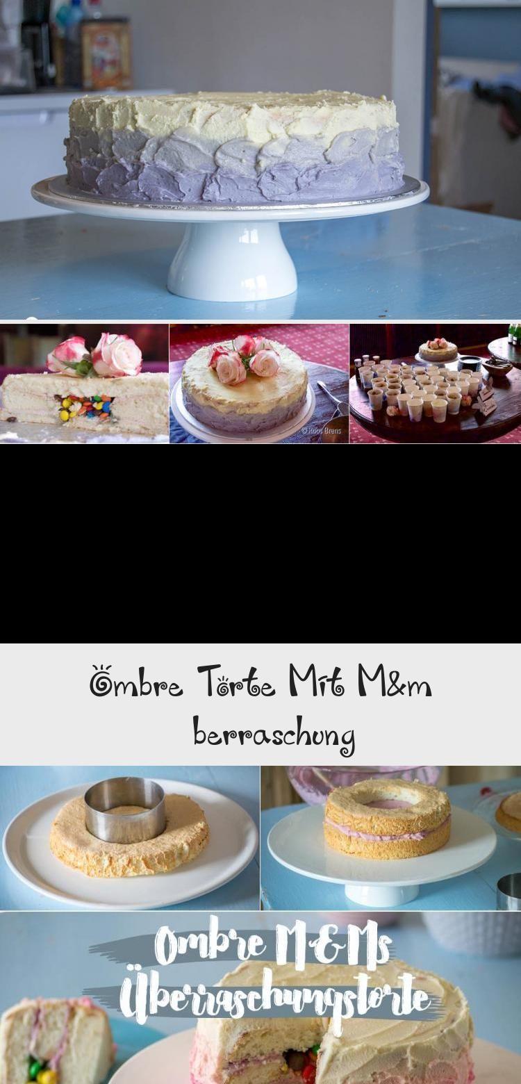 Photo of Ombre-Kuchen mit M & M-Füllung Smarties in Creative Fever Geburtstagstorte …