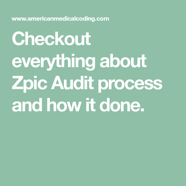 ZPIC Audit Process: Know Everything About It In 2020