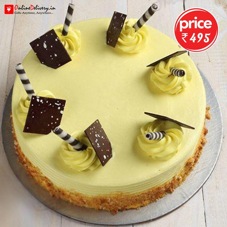 Order Send Cakes In Bangalore As A Gift To Someone Special Butterscotch Cake Cake Cake Flavors