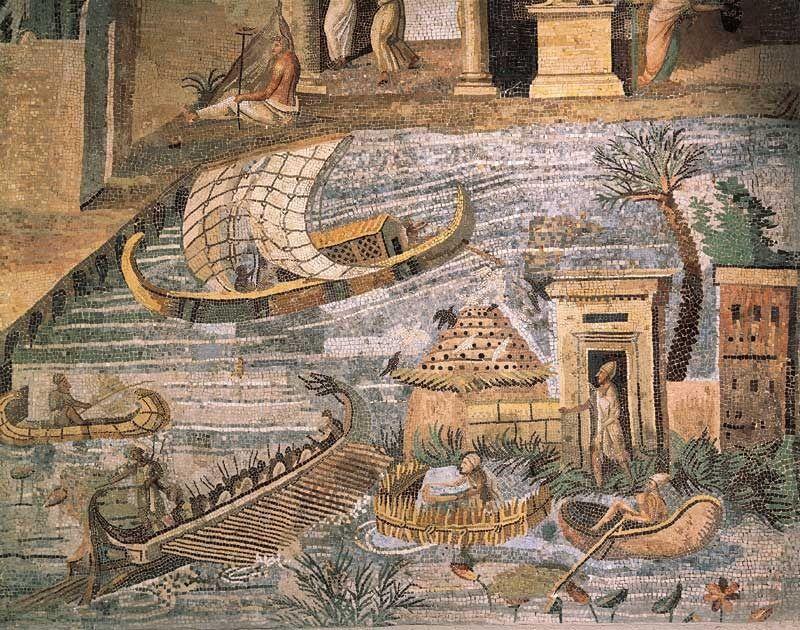 Mosaic Roman Italy Mosaico Del Nilo Palestrina Lazio Roman Art Roman Mosaic Egyptian History
