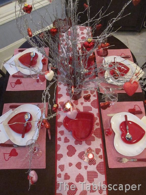 DOLLAR TREE VALENTINES DAY TABLESCAPES | ... Does All Come Together Nicely  For A