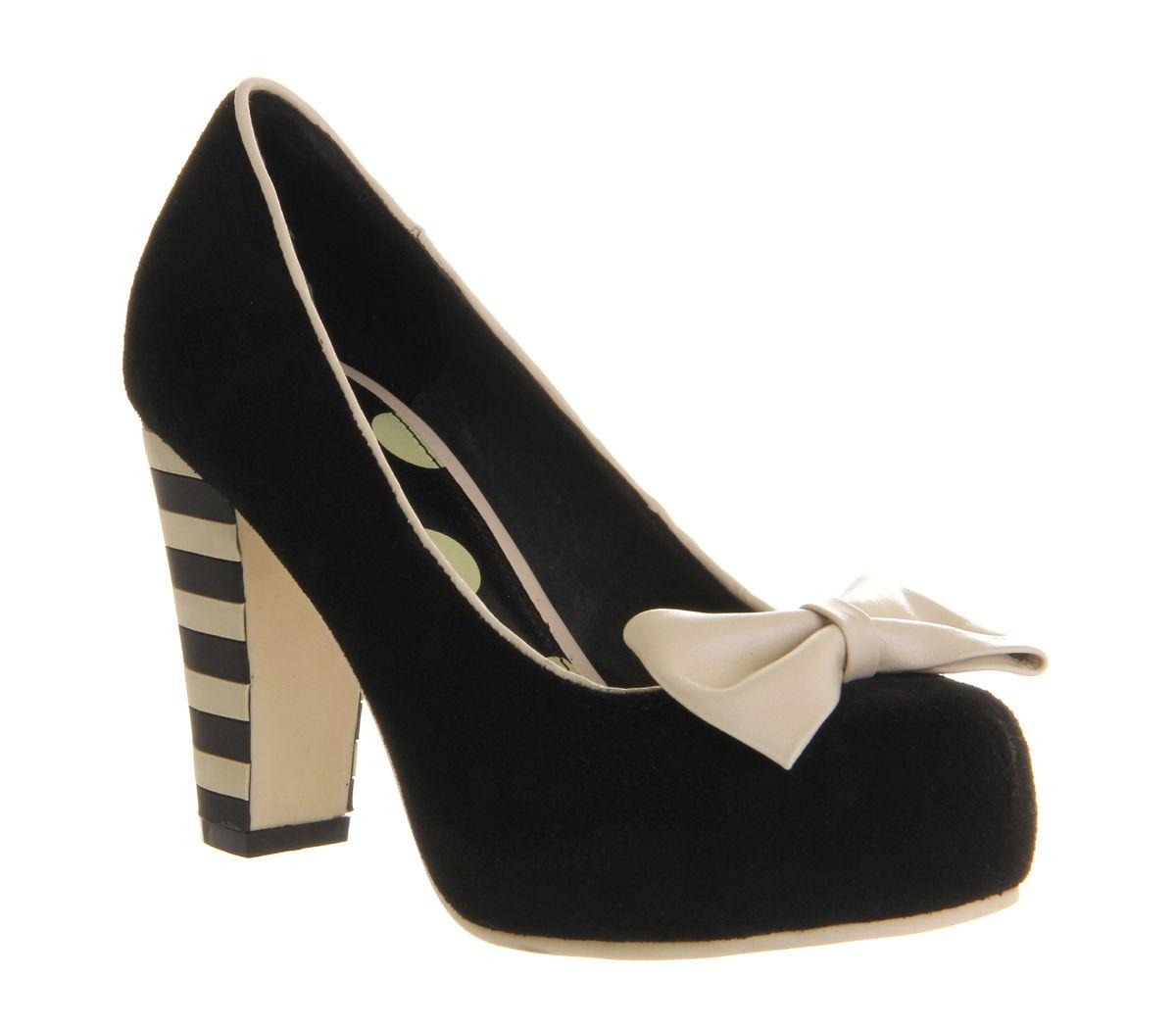 Office Shoes - Womens Lola Ramona Angie P Heel BLACK WHITE MULTI .