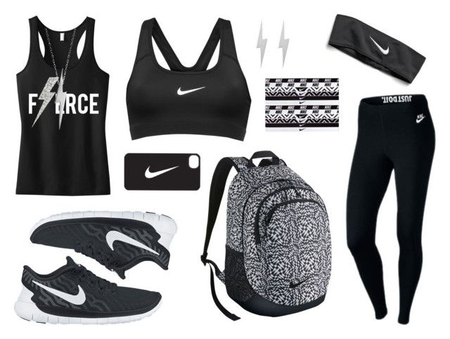 """Workout Day #2"" by nats-31 ❤ liked on Polyvore featuring NIKE, Edge Only and workout"