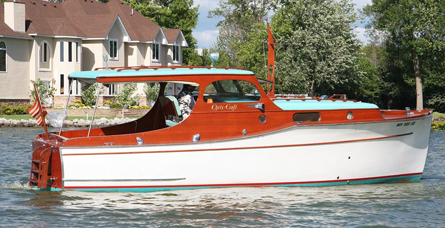 28 Classic Wooden Boat Woodie Wooden Boats Cabin Cruiser Boat