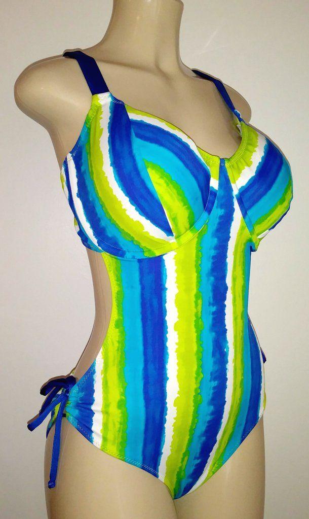 Women's plus size underwire monokini bigger bra size