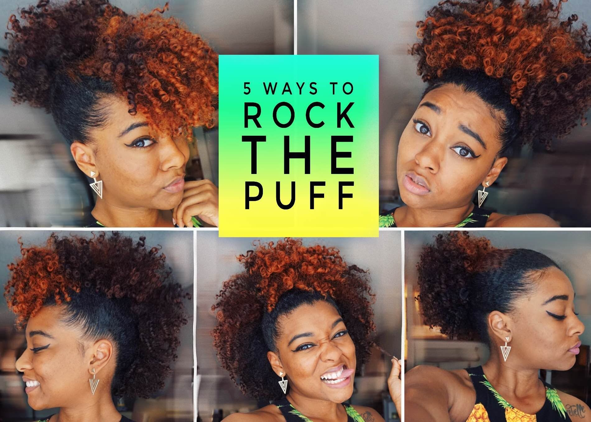 Easy Cute Puff Styles With Bangs Frohawk More Natural Hair