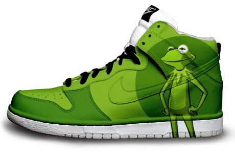 the best attitude b9c61 79f0a Kermit the frog high tops | Because it's Green in 2019 | Sneakers ...