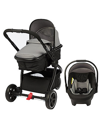 mothercare journey 3wheel black travel system charcoal