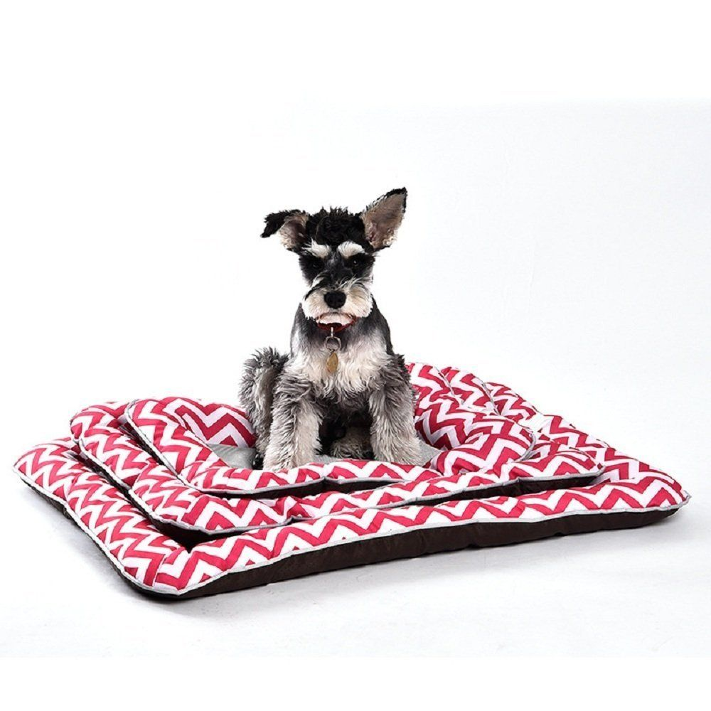 Pet Show Cute Wave Pattern Pet Bed For Dog Square Beds Comfortable