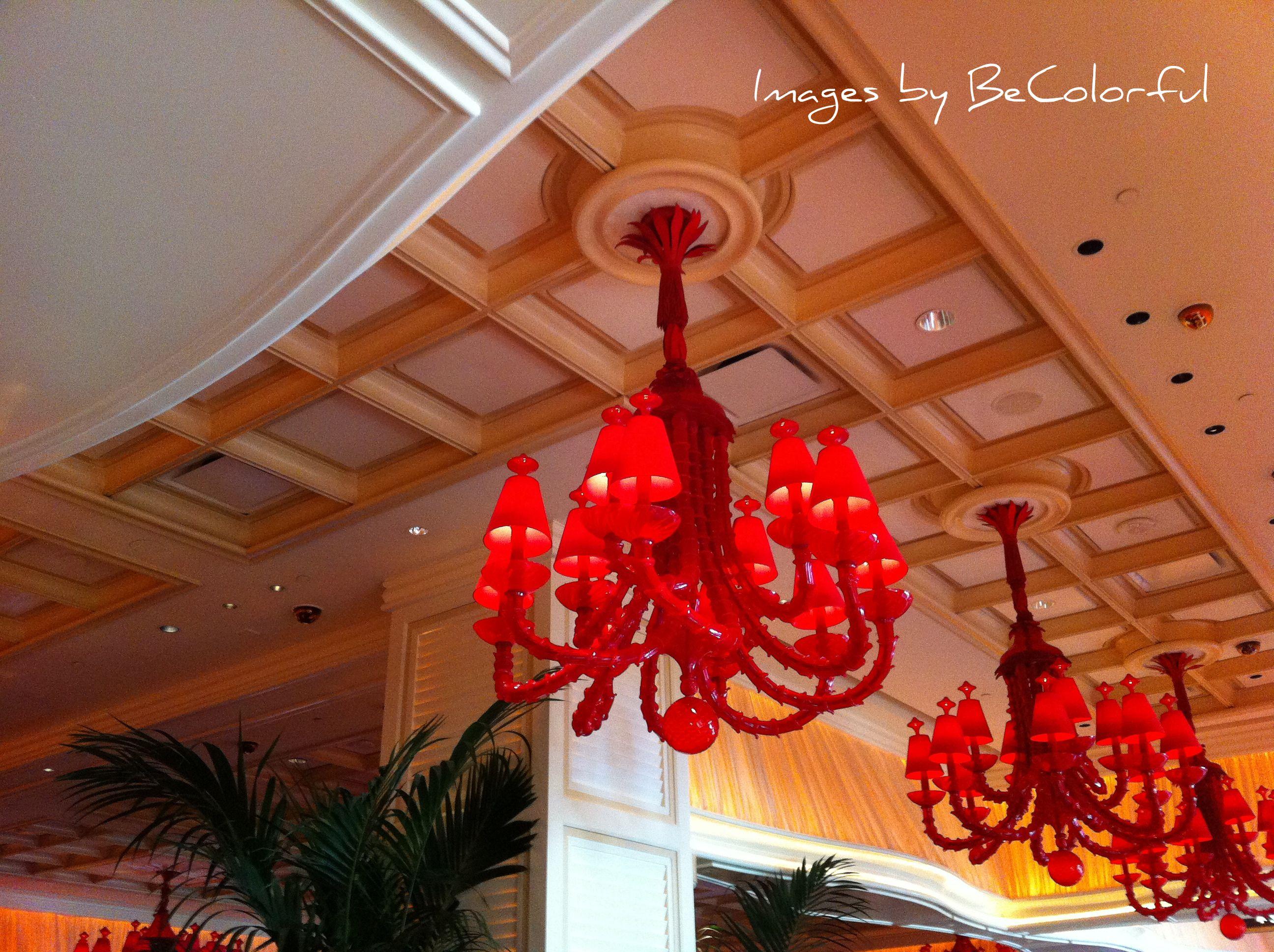 Amazing Chandeliers In The Wynn Encore Las Vegas