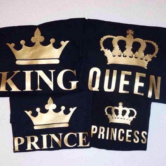 Venta de liquidación venta al por mayor venta caliente más nuevo King Queen Prince Princess Shirts | Matching Family T-Shirts ...