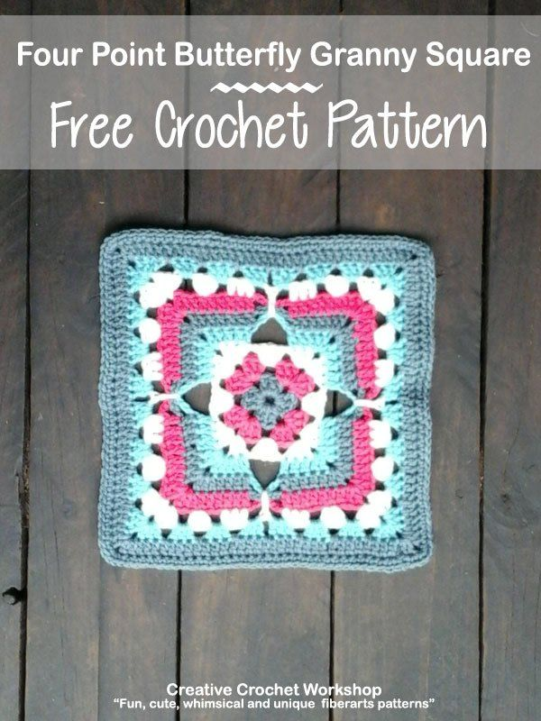 Four Point Butterfly Granny Square Crochet Cal Pinterest