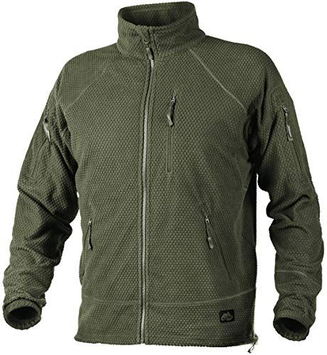 New Helikon Men's Alpha Tactical Jacket Grid Fleece Olive Green online – Theprettyfashion