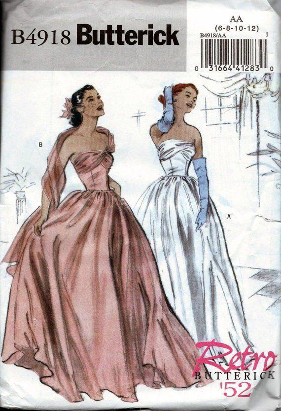 Vintage 1950s Evening Dress
