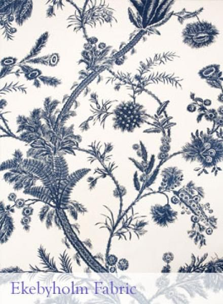 """Ekebyholm"" http://www.ljungbergsfactory.com/fabrics-textiles/historical-textiles"
