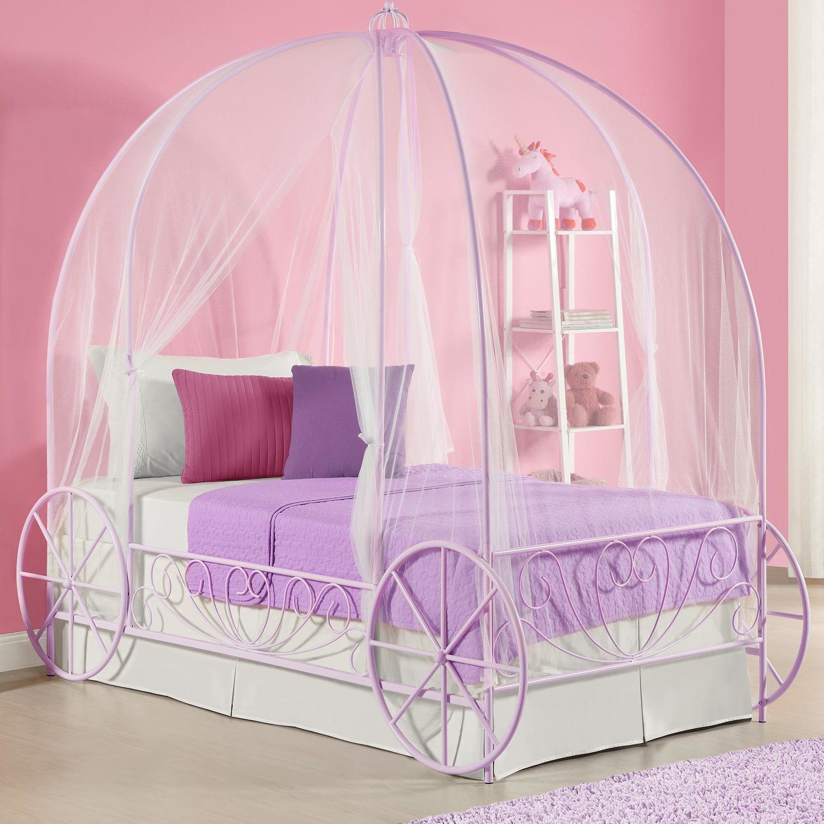German Twin Canopy Bed Carriage bed, Princess carriage