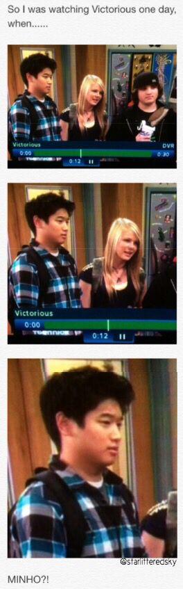 Hahaha Minho!! Looks like we found out what he was like ...