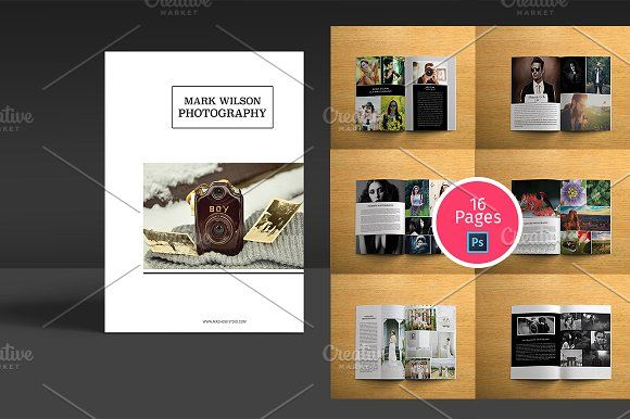 Photography Brochure Template by Madhabi Studio on @creativemarket - studio brochure