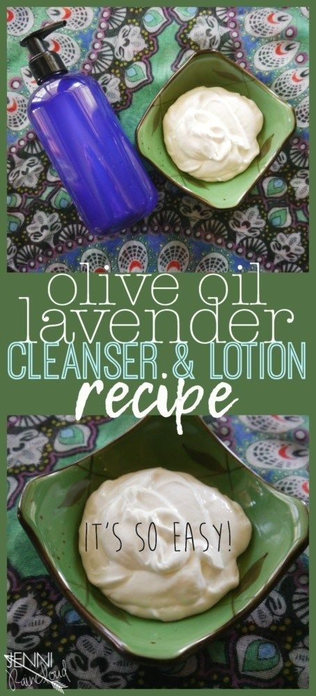DIY Olive Oil and Lavender Cleanser and Face Cream #oliveoils