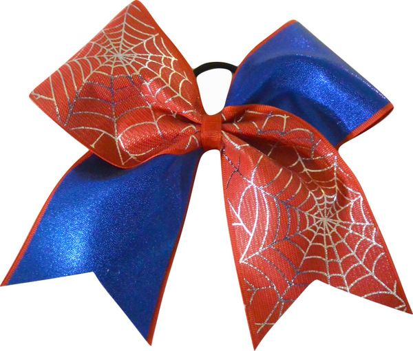 Spider Man Super Hero Blue Large Cheer Bow-