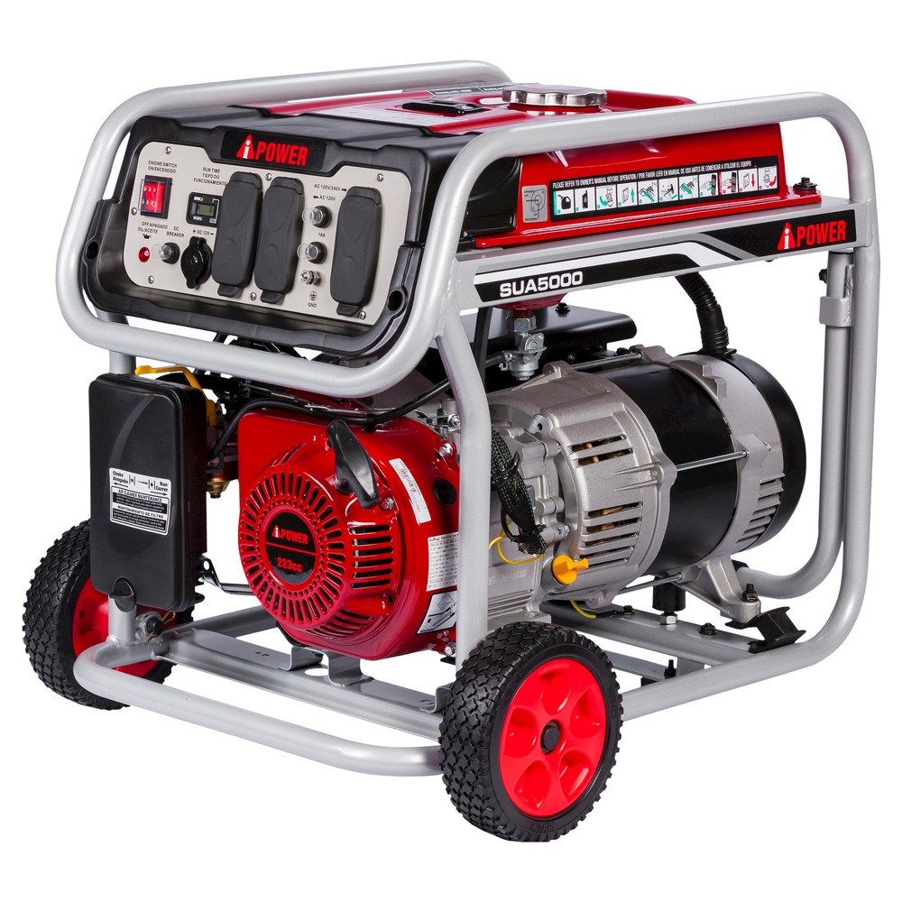 5000 Watt Gasoline Powered Portable Generator Manual Start