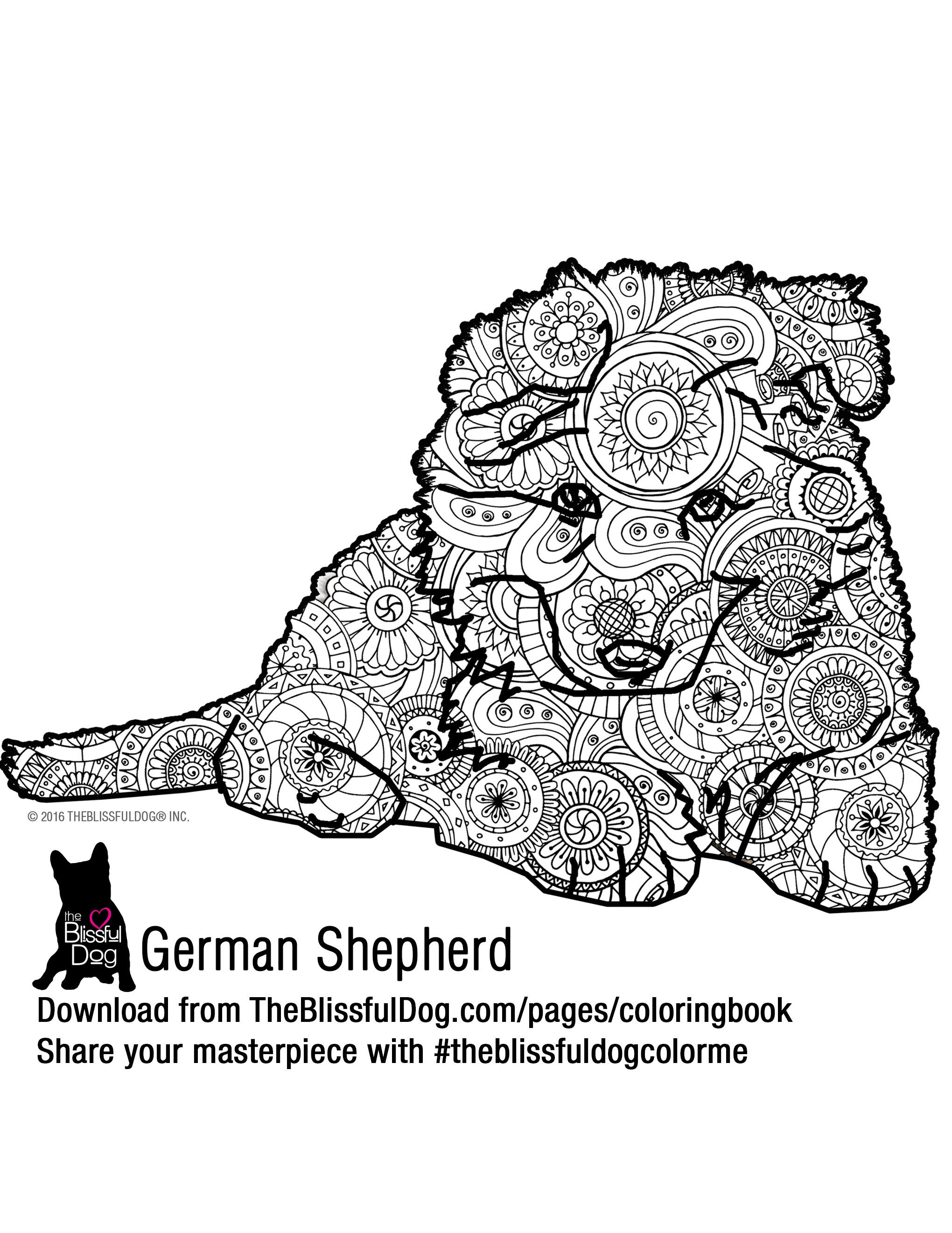 Coloring Book | Coloring books, German shepherd puppies and Shepherd ...