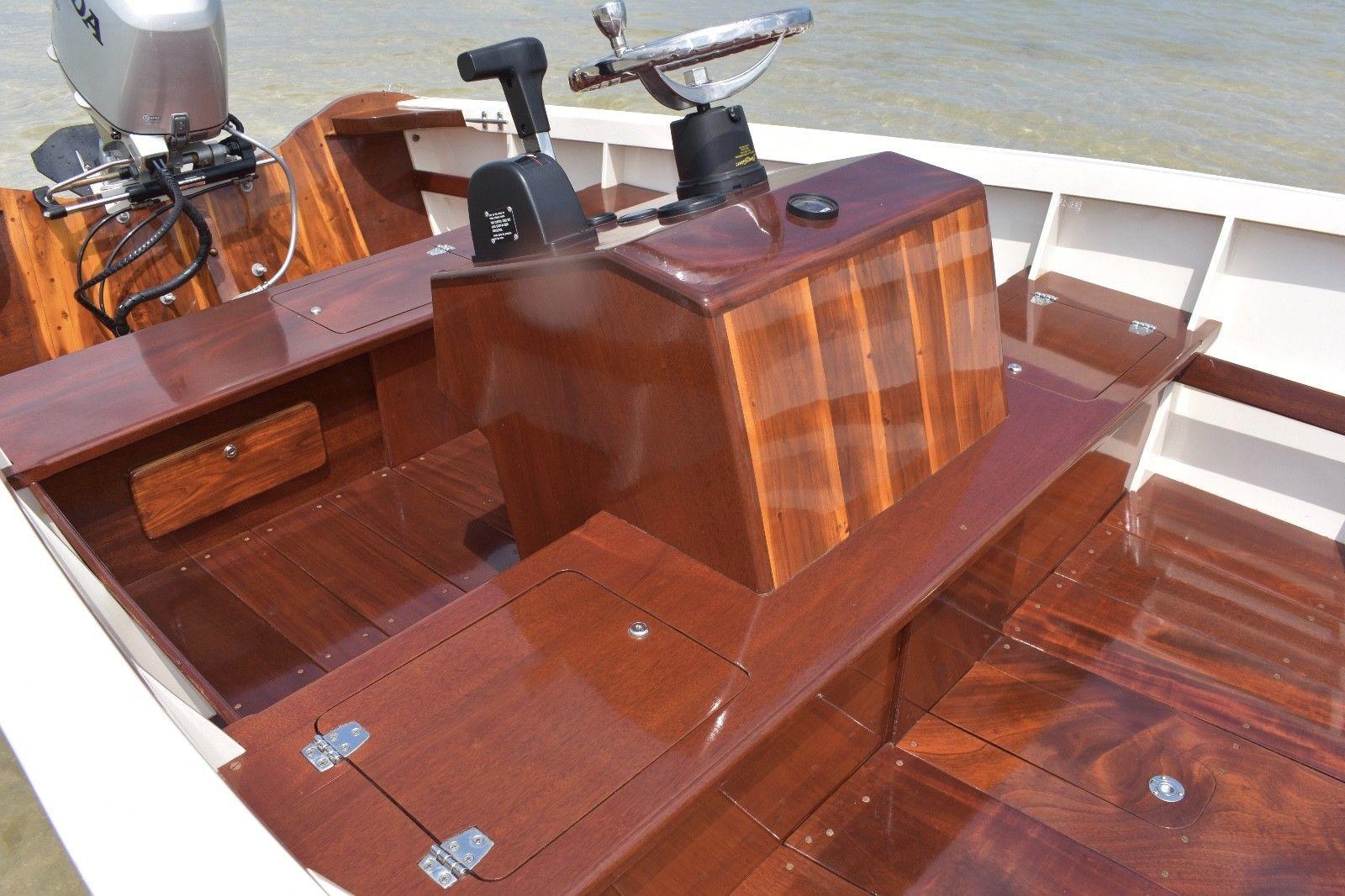 World famous 16ft bimini bonefisher skiff by ansil saunders   Boats