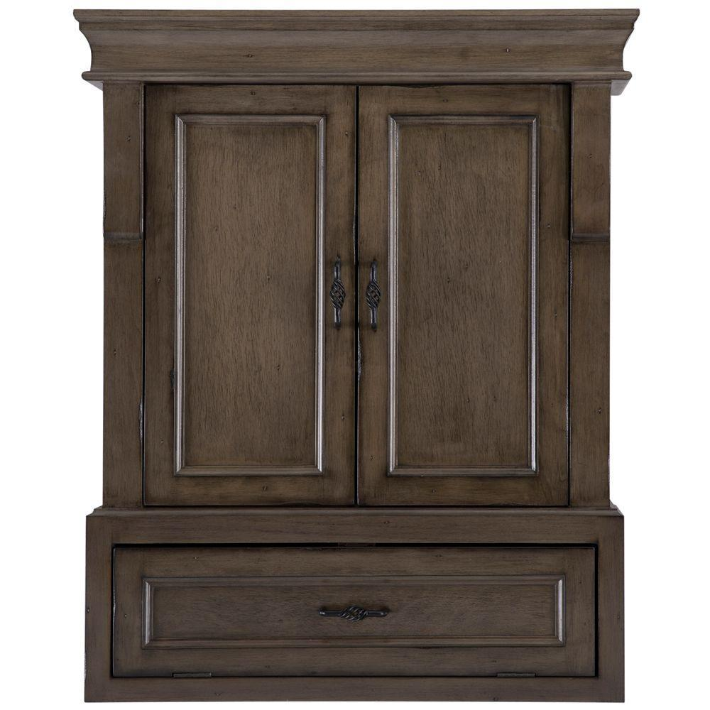 Home Decorators Collection Naples In W Bathroom Storage Wall - Distressed bathroom wall cabinet