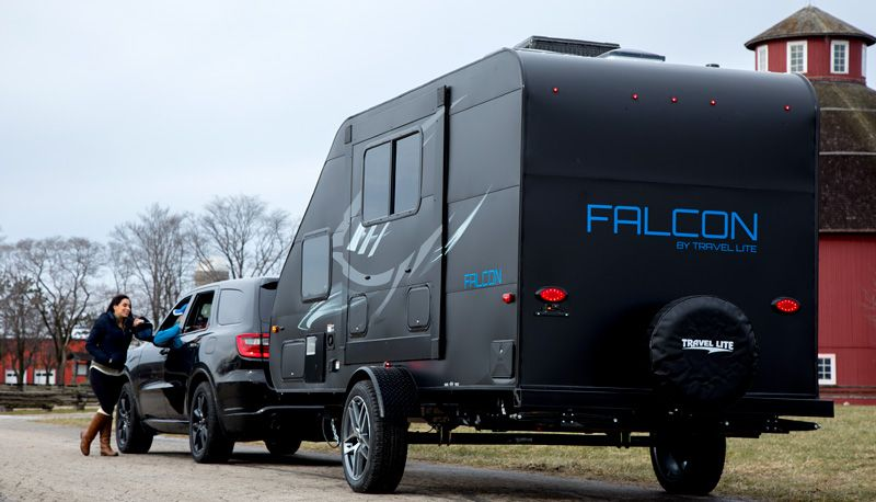 Travel Lite Falcon 23th Toy Hauler Travel Trailer Eclipse Edition