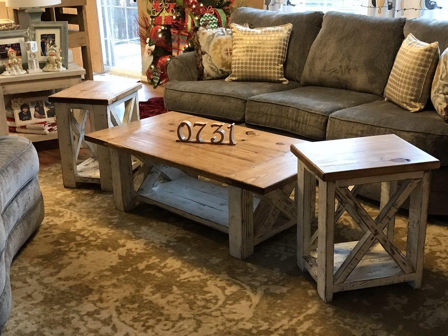 Chunky Farmhouse Coffee Table Rustic Home Decor Diy Furniture