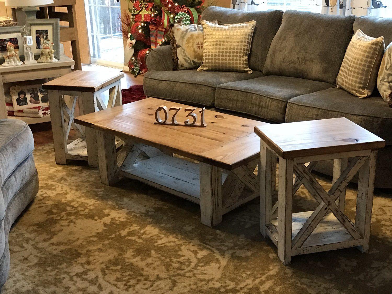 - Chunky Farmhouse Coffee Table. Rustic Home Decor. DIY Furniture