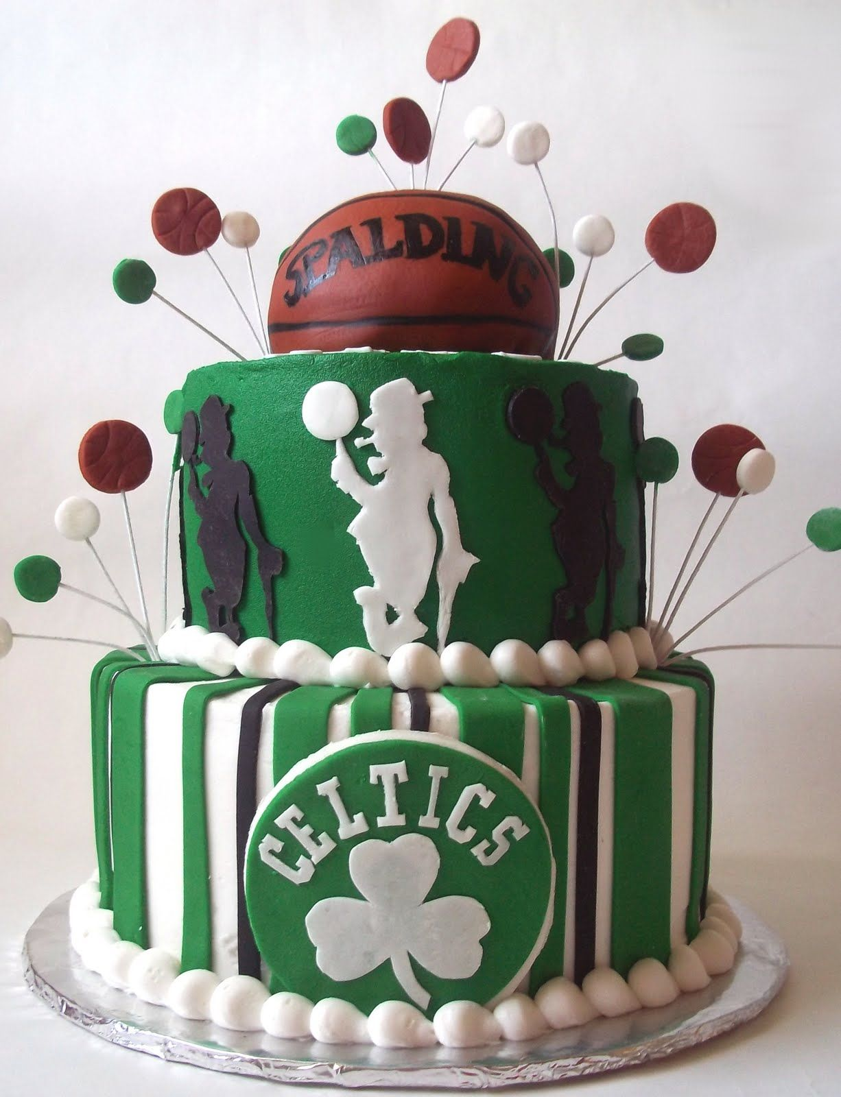 Tremendous Celtics With Images Basketball Cake Custom Cakes Sport Cakes Personalised Birthday Cards Paralily Jamesorg