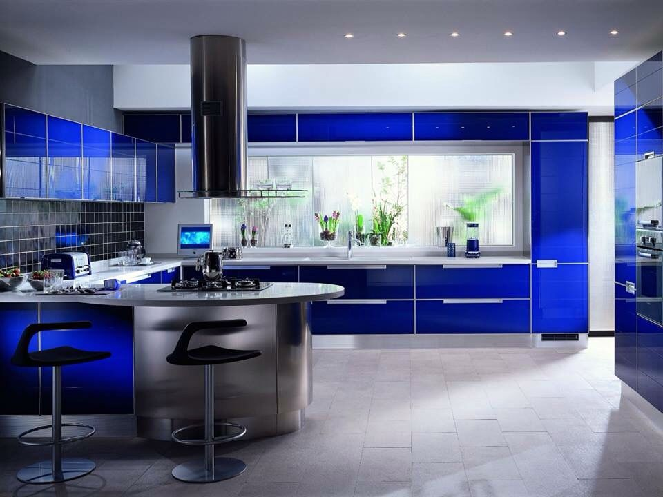 Cocina azul | Modern mutfaklar | Pinterest | Kitchens, House and Room