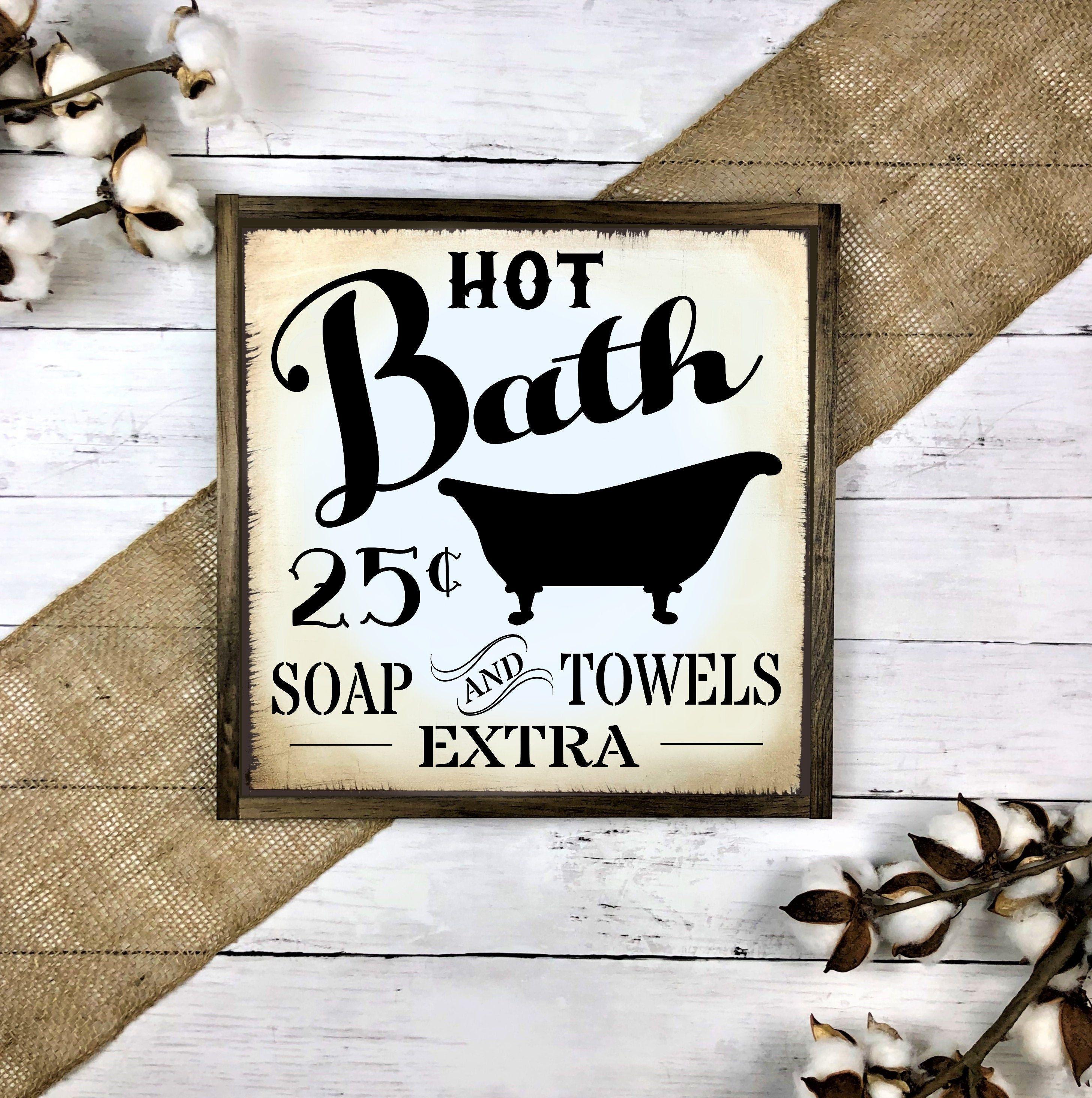 Bathroom Signs Vintage Bathroom Signs Bathroom Wall Decor Etsy Vintage Bathroom Bathroom Signs Bathroom Wall Decor