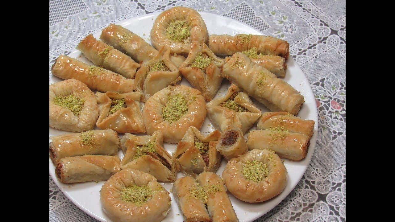 بقلاوه بكل اشكالها روعة و لذيذة بقلاوا بطريقة سهلة حلويات رمضانية Youtube Lebanese Desserts Food Desserts
