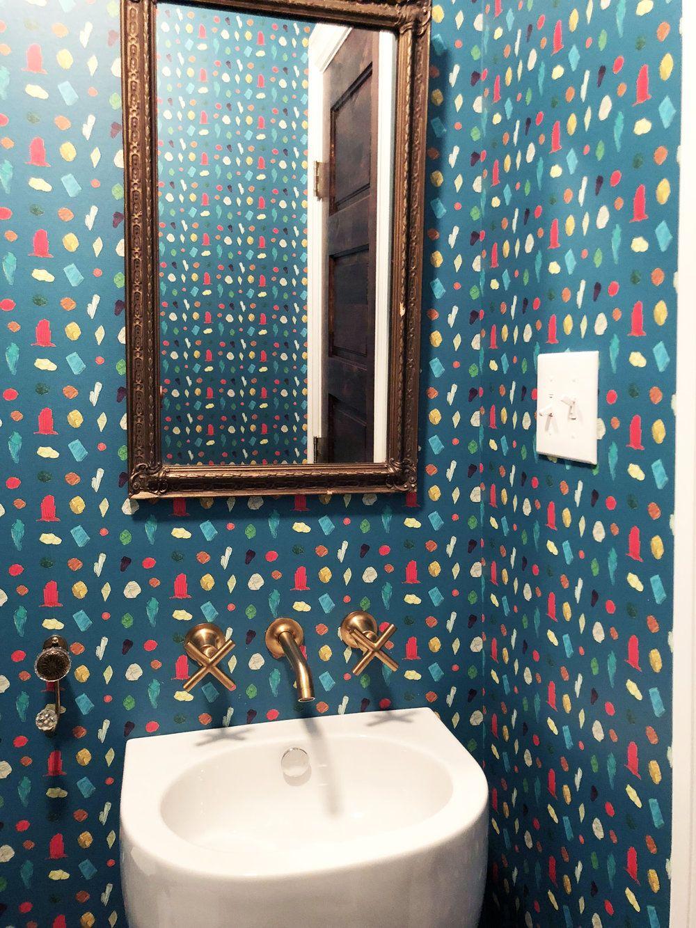 Gem Belushi (Azure) Wallpaper Contemporary home decor