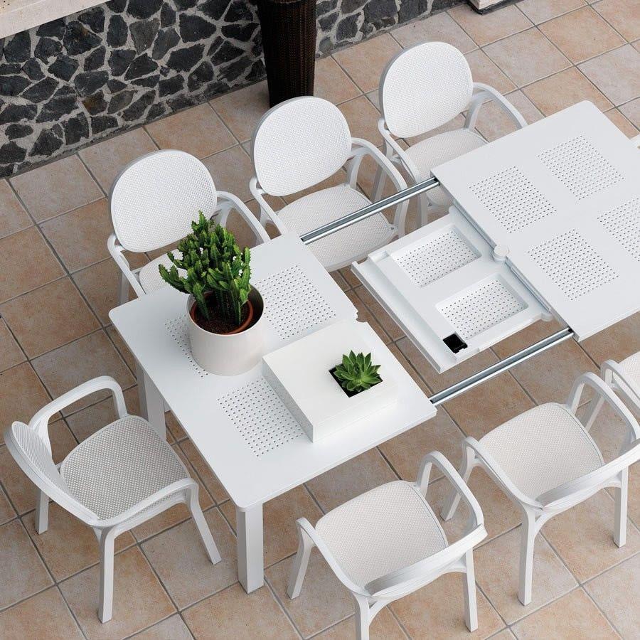 Tavolo Quadrato Allungabile Da Esterno.Tavolo Da Esterno Allungabile Levante Tavolo E Sedie Da Giardino
