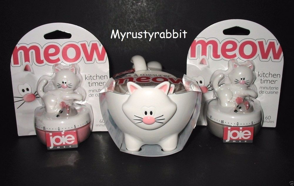 Joie Cat 60 Minute Timer or Measuring Cups Kitchen Gadget Jo