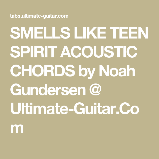 Smells like teen spirit acoustic chords — photo 7