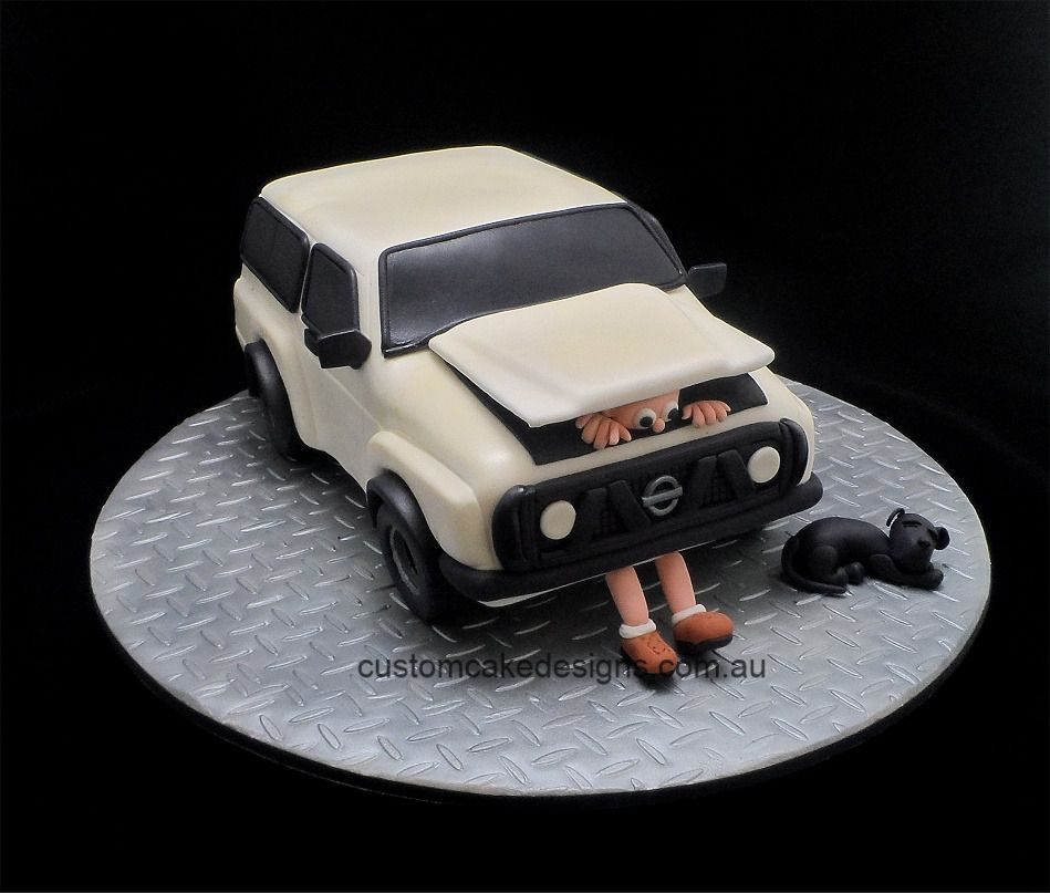 Nissan Patrol Cake Funny Cake Story This Has Got To Be The - Car engine birthday cake