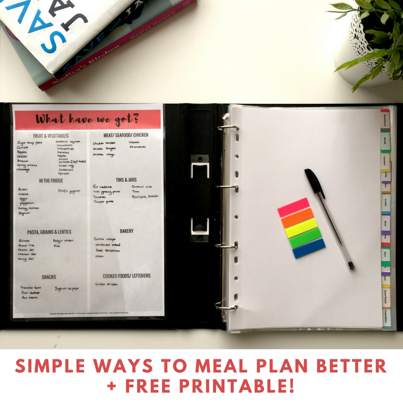 Simple Ways To Meal Plan Better + Free Printable!