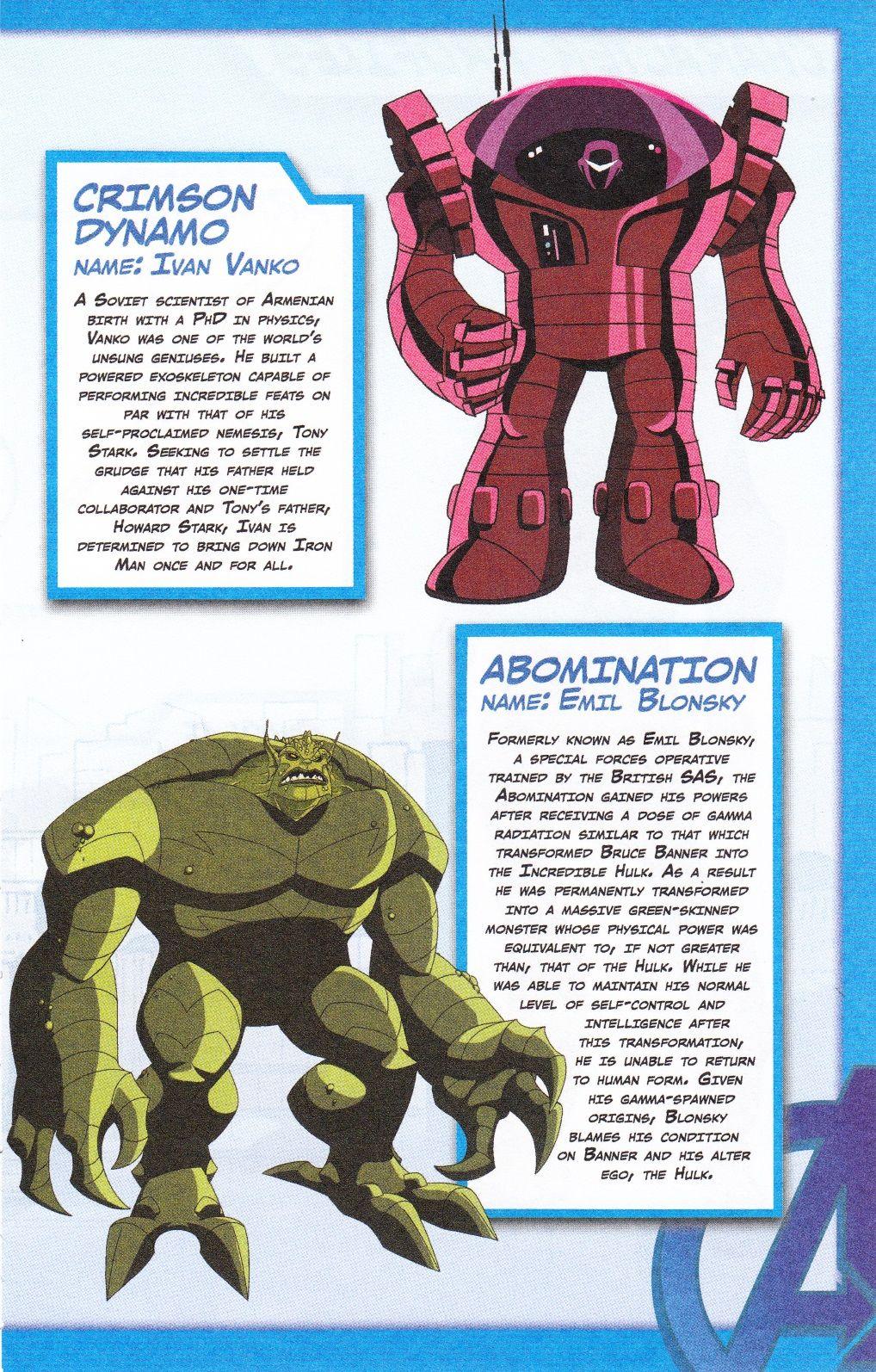 Crimson Dynamo Abomination Avengers Earth S Mightiest Heroes
