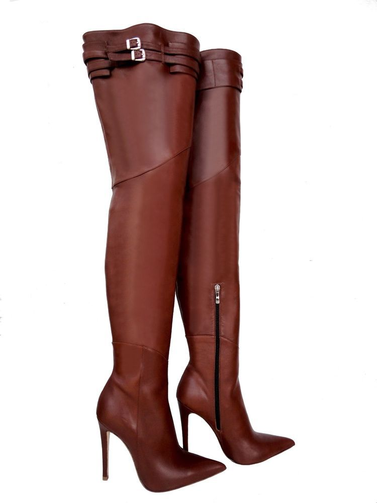 CQ Couture Custom Over the Knee Boot Stiefel Boots Gold