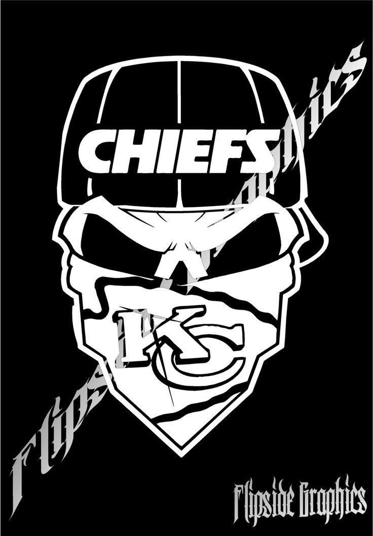 Decal Bogo Kansas City Chiefs Custom Skull Decal Huge Inch - Custom vinyl decals kansas city