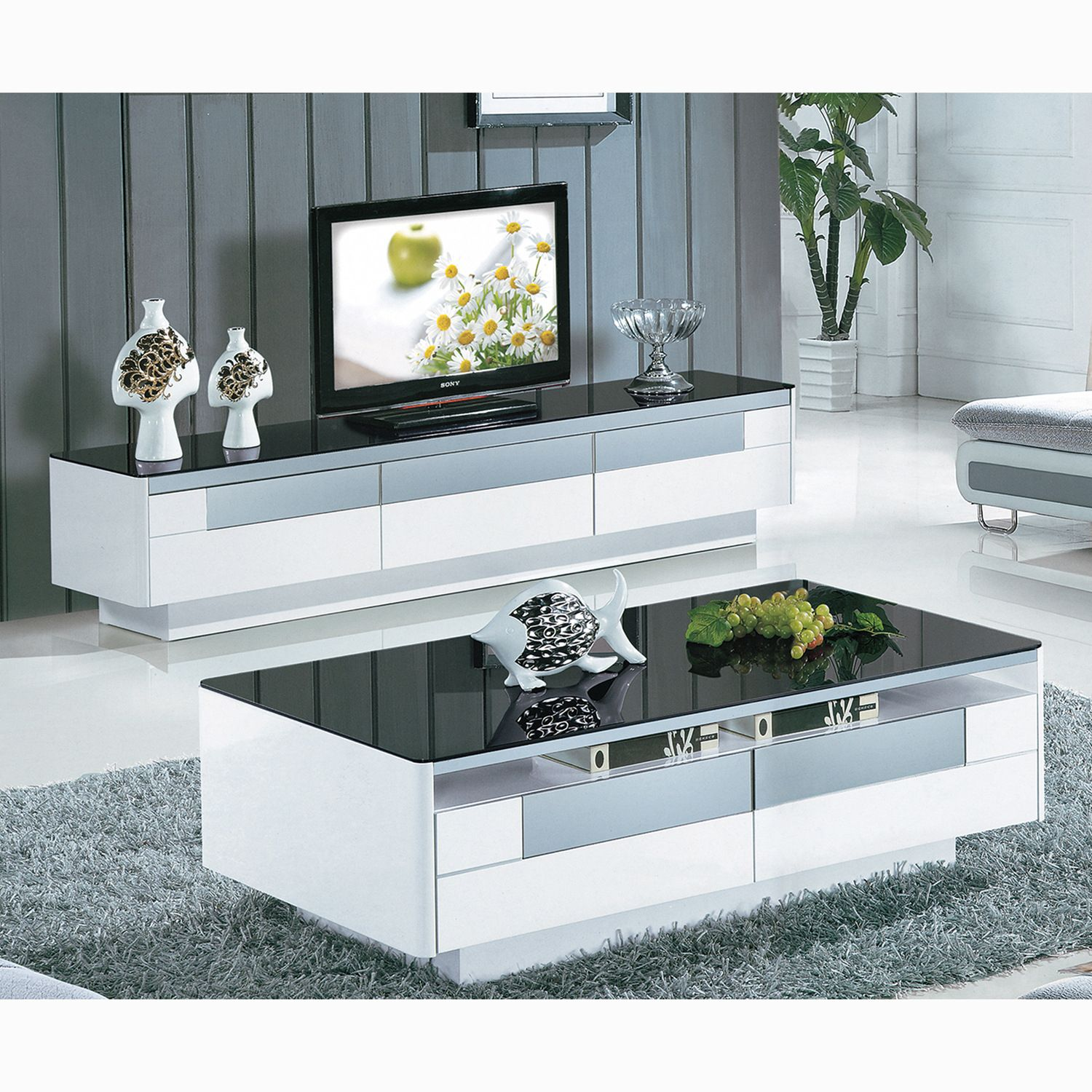 Tv Stand And Coffee Table Set Download Pack Tube Black Finish Horn Coffee End Tabl Tv Stand And Coffee Table Tv Stand And Coffee Table Set Coffee Table Setting [ 1500 x 1500 Pixel ]